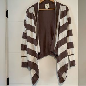 Pink Rose   Open Striped Sweater